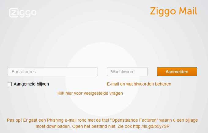 Ziggo Webmail Webmail Inloggen