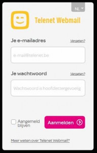 Telenet.be webmail login