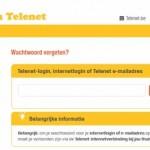 Telenet.be webmail wachtwoord vergeten scherm
