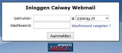 Caiway webmail inlog scherm