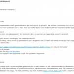 Je bent geblokkeerd Ziggo phishing mail