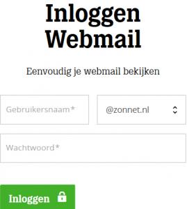 Zonnet webmail login