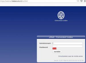 uMail Leiden inloggen