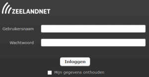 Zeeland webmail loginscherm